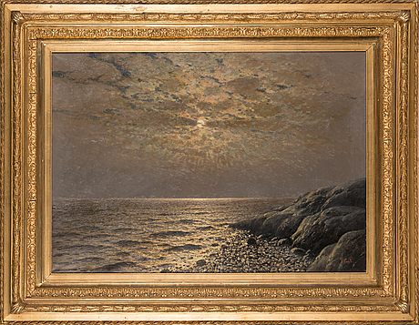 Eugen taube, oil on canvas, signed.