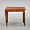 A mahogany games table, circa 1800.