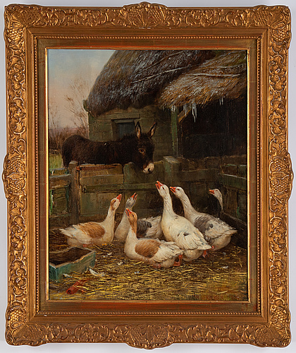 William henderson, oil on canvas, signed and dated 1889.