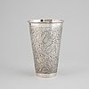 A silver beaker by lisa andersson dated 1973.
