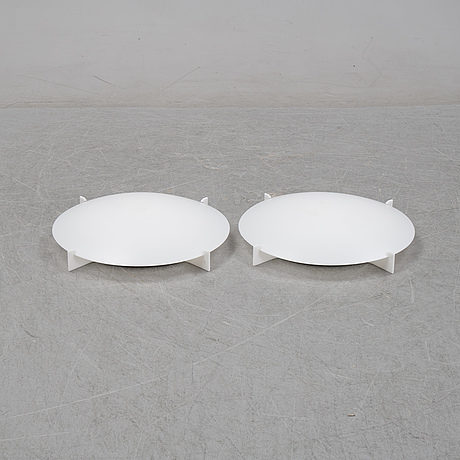 A pair of 'plafo' ceiling lamps by uno & östern kristiansson, luxus, second half of the 20th century.