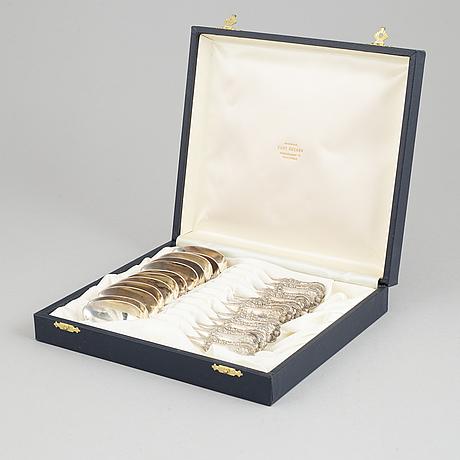 A set of twelve silver teaspoons, mark of mitchell & sons, glasgow 1825.