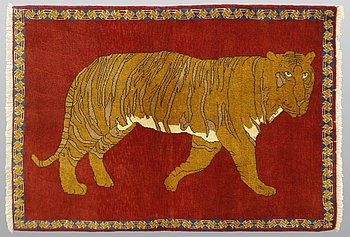 A rug, Figural Kashgai, ca 147 x 104 cm.
