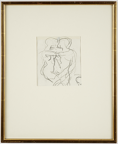 Peter dahl, drawing, signed.