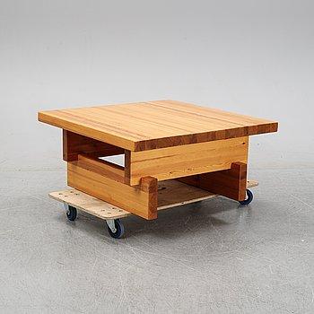 A pinewood 'Säter' coffee table, IKEA.