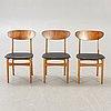 A set of six 1960s danish teak chairs.