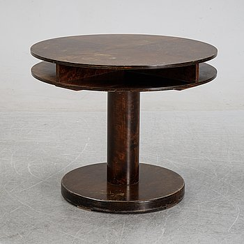 A 1930's stained birch coffee table.