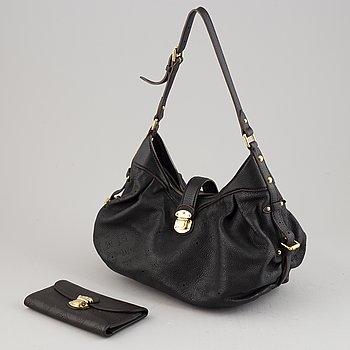 Louis Vuitton, a 'Mahina Lunar PM' leather handbag and wallet, 2008-09.