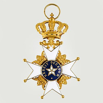Royal Order of the Polar star. 18K gold and enamel, 1970.
