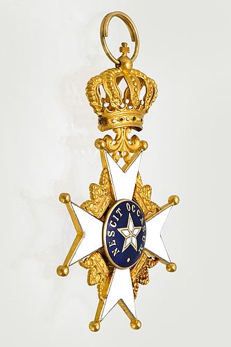 Kungliga nordsjärneordern. 18k guld och emalj, 1970.