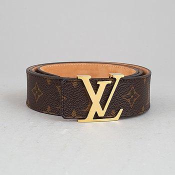 Louis Vuitton, a monogram canvas belt, size 100/40.