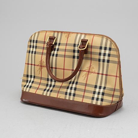 Burberry, a handbag and wallet.