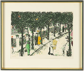 Lennart Jirlow, lithograph in colours, 1984, signed 387/480.
