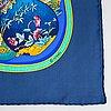 Hermès, a pair of silk scarves.