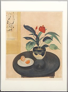 Einar Jolin, color lithograph, signed 209/360.