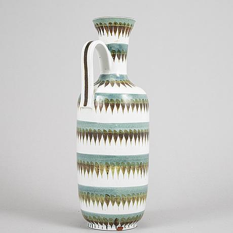 An earthenware vase by stig lindberg, gustavsberg studio.
