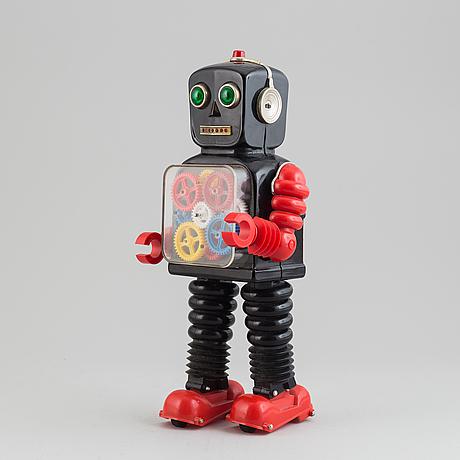 Blink a gear tin robot, taiyo, japan, 1960-tal.