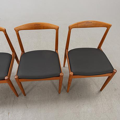Arne vodder, chairs, 4 pcs, vamo sonderborg, denmark.