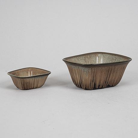 Gunnar nylund, vas, skålar, 7 st, skulpturer, 2 st, stengods, rörstrand.