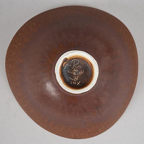 Six plates, six bowls and one jug by carl-harry stålhane, stoneware, rörstrand.