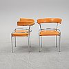 A pair of 'ga-1' armchairs by gunnar asplund for källemo, after 1988.