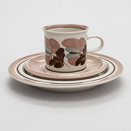 Ulla procopé, a 24-piece 'koralli' coffee set, arabia, finland 1983-1987.