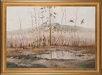 Ejnar Kohlmann, oil on canvas, signed and dated 1956.
