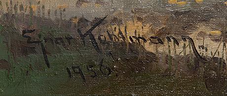 Ejnar kohlmann, olja på duk signerad och daterad 1956.