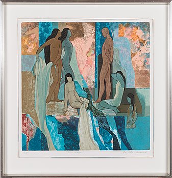 Marjatta Sarasalo, lithograph, signed and numbered 18/360.