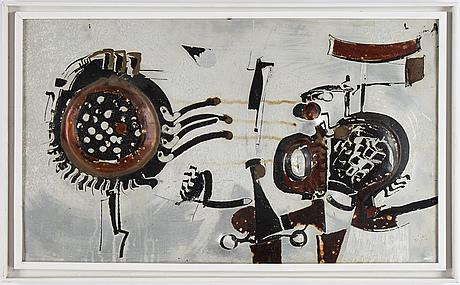 Bengt berglund, painted aluminum, signerad and dated 1966.