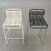 A set of two verner panton tivoli bar stools 21st century.