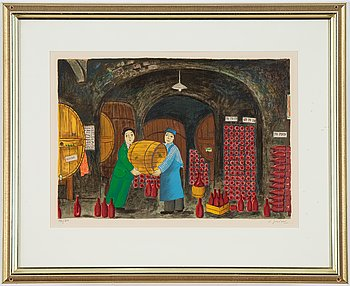 Lennart Jirlow, lithograph in colours, 1978, signerad 193/310.
