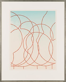 Kristian Krokfors, lithograph, signed and dated -84, numbered 23/55.