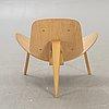Hans j wegner, a ch07 easy chair for carl hansen & søn odense denmark 21st century numbered 540253.