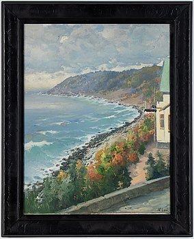 Vasili Levi, oil on panel, signed.