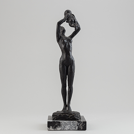 A bronze sculpture by ricard sala, spain, 1989, signed and numbered 8/25.