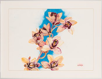 Malle Leis, watercolour, signed and dated -90.
