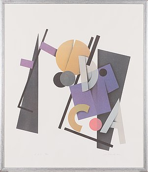 Avo Keerend, off set print, signed and dated -90, numbered 96/99.