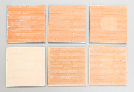 A set of six earthenware tile plates, after salvador dalí, late 20th century.