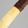 A sami reinderr horn knife, signed rp.