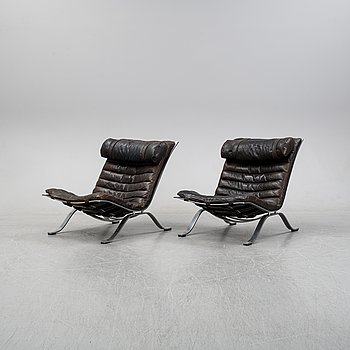 A pair of 'Ari' armchairs designed by Arne Norell, Norells Möbler, model designed in 1966.
