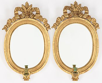 A pair of Gustavian style sconces, 20th century.
