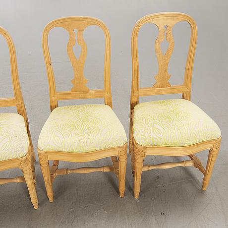 "Chairs, 4 pcs, ""hallunda"", ikea's 18th century series, late 20th century."