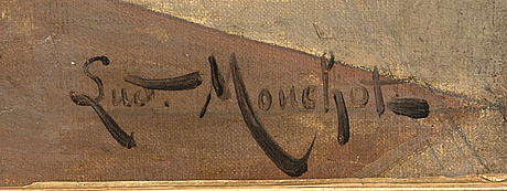 Louis hippolyte mouchot, oil on canvas, signed.