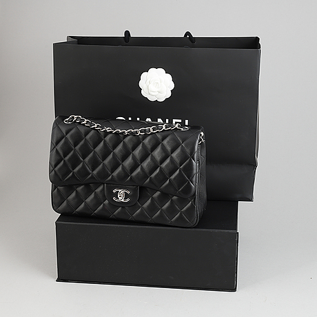 Chanel, a black, quilted leather 'jumbo double flap bag', 2017.