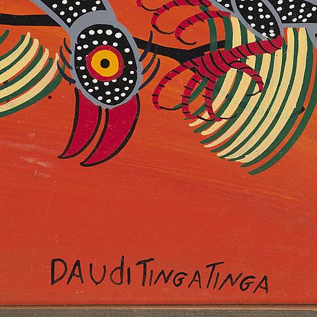 Daudi tingatinga, oil on canvas, signed, 1970/80s.