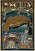 Okänd konstnär, olja på duk, tingatinga-måleri, signerad laly, 1970/80-tal.