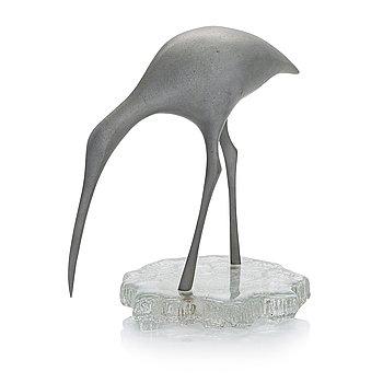 Tapio Wirkkala, sculpture, Suokurppa (Snipe). Stamped Kultakeskus Oy Design: Tapio Wirkkala Made in Finland.