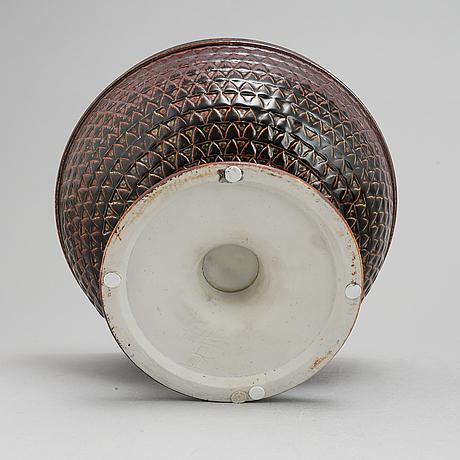 Stig lindberg, a stoneware bowl, gustavsberg studio, signed.
