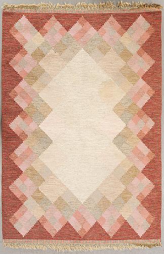 A swedish flat weave carpet signed s 230x167 cm.